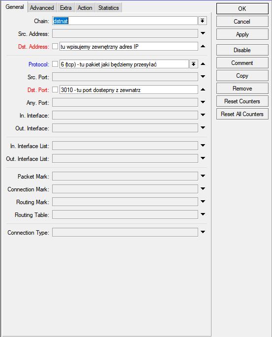 mikrotik, firewall, port forwarding, przekierowanie portów, makeit24